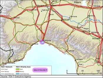 File Port of Genoa: Map courtesy of TEN-T