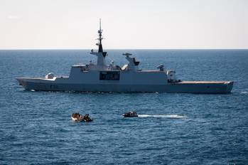 File French Warship Apprehends Pirates: Photo credit EU NAVFOR