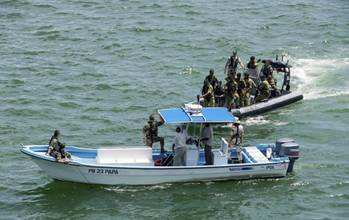 File Atalanta and EUCAP Nestor hosted two training sessions for Tanzanian Maritime Police and Navy in Dar es Salaam to share knowledge and experiences in fight against piracy in the Horn of Africa and Western Indian Ocean region. (EU NAVFOR Photo)