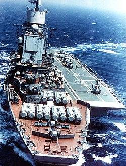 File Kiev-class Aircraft Carrier: Photo credit Wikipedia CCL