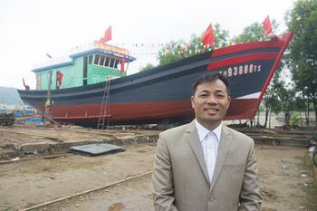 File Owner Capt. Trinh Van Hung is justifiably proud of his new boat. (Haig-Brown photos courtesy of Cummins Marine)