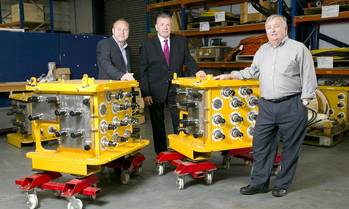 File 3sun Group, a specialist provider of products and services to the global energy industry, has announced the acquisition of RRC Controls Services Ltd. (L-R)  Graham Hacon, managing director of 3sun Group, Neil Tawse, regional director for 3sun Group and Ray Connelly, director of RRC Controls Services , who will stay on in his role.