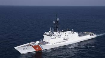 File U.S. Coast Cutter Hamilton performs sea trials in the Gulf of Mexico Aug. 13, 2014. (U.S. Coast Guard photo by Carlos Vega)