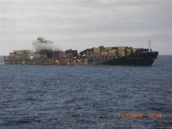 File Earlier Photo MSC Flaminia: Credit  Reederei NSB
