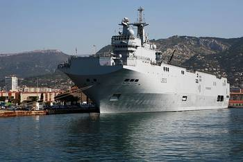 File Mistral-class Ship: Photo credit Wikimedia CCL