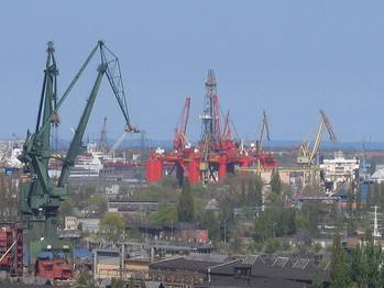 File Gdansk Shipyard: Photo credit Wikimedia CCL 2