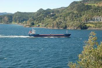 File Short Sea Cargo Ship: Photo credit Wikimedia CCL