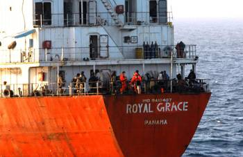 File MV Royal Grace following its release from Somali Pirates in March 2013. (Photo: EU Naval Force)