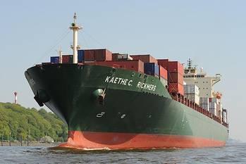File Kaethe C. Rickmers: Photo courtesy Port of Hamburg