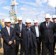 File OAO LUKOIL President Vagit Alekperov and ConocoPhillips Chairman and CEO Jim Mulva today participated in a special ceremony on the occasion of the startup of the Yuzhno Khylchuyu (YK) field located in the Nenets Autonomous District.