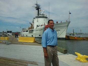 File Frank LoBiondo visits USCG training center in Cape May, August 2013