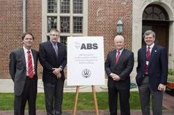 File Chairman of the Board of Trustees R. Keith Michel, ABS CEO Christopher J. Wiernicki, Webb Institute President RADM (Ret) Robert C. Olsen and Webb Trustee Jon Jay LaBerge.