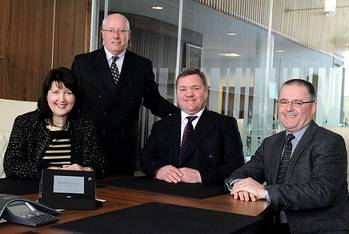 File ACE Winches board of management from left:  - Valerie Cheyne - Chief Compliance Officer, Sam Morrison - Chief Financial Officer,  Alfie Cheyne - Chief Executive Officer, Graham Thomson - Chief Operations Officer. (Photo: ACE Winches)