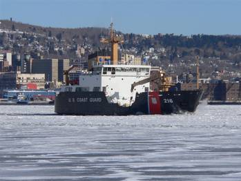 File - Breaking Ice in the Duluth Harbor - Photo courtesy of United States Coast Guard