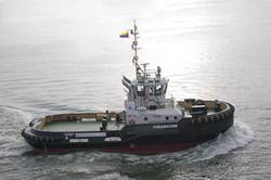 File  ASD Tug 2810 was built at Damen Shipyards Galati (Romania) and is currently underway to Venezuela (Photo: courtesy Damen).
