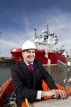 File John Bryce, managing director of Atlantic Offshore