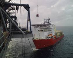 File Offshore suppliers are anxious to get their vessels, such as the HOS Achiever, working again in the GOM. (Photo Credit: Hornbeck Offshore Services)