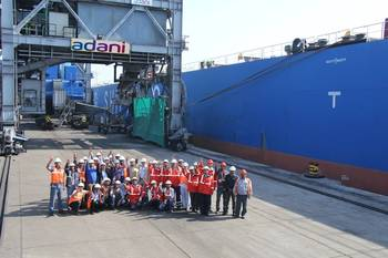 File Adani Kandla Bulk Terminal completes 3.5 MT of cargo volume in first financial year. Photo Adani