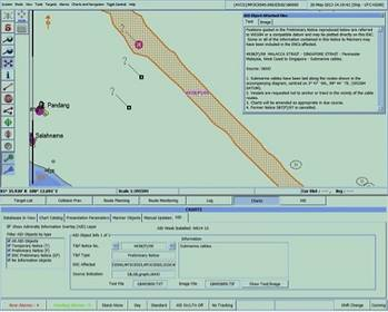 File Admiralty AIO display on an ENC on the Totem ECDIS display