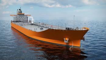 File Aframax tanker design: Rendering by Wärtsilä
