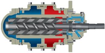 File Nearly 100 Allweiler pumps of the SNF series will pump hydraulic oil in a shipborne system capable of lifting up to 48,000 tons for the purpose of decommissioning offshore platforms. (Image: Allweiler GmbH)