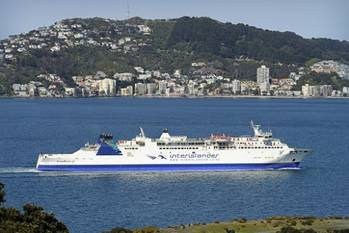 File Ferry Aratere: Photo courtesy of Interislander