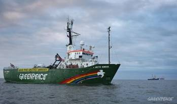 File Arctic Sunrise: Photo credit Greenpeace