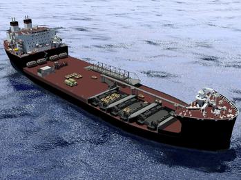 File Artist rendering of Mobile Landing Platform vessel (Photo: General Dynamics NASSCO)