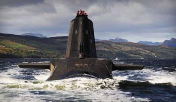 File RN Astute-class submarine: Photo credit MOD