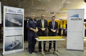 File Cape-class Keel laying ceremony: Photo credit Austal