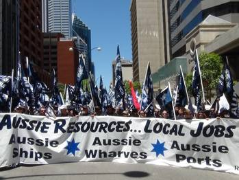 File Australian protesters: Photo MUA