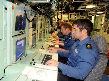 File Control Room HMS Astute: Photo credit MOD