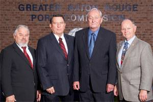 File Caption: Pictured (left to right):  Commissioners: Larry Johnson, secretary, West Baton Rouge Parish; Raymond Loup, vice president, West Baton Rouge Parish; Alvin Dragg, president, Ascension Parish; Jerald Juneau, treasurer, East Baton Rouge Parish.