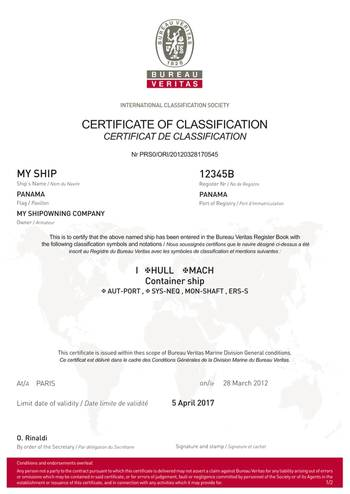 File Bureau Veritas Certificate
