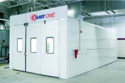 File Blasting Batch-Booth: Photo courtesy of Blast One