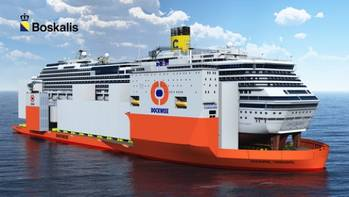 File Sketch Dockwise carrying Costa Condordia: Image courtesy of Boskalis