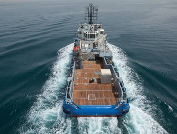File The Seismic Support Vessel Bourbon Petrel at sea.  (Photo: Bourbon)