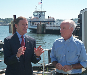 File Sen. Richard Blumenthal (left) and Rep. Joe Courtney (Photo: American Maritime Partnership)