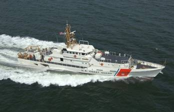 File A fast-response cutter of the U.S. Coast Guard is one of several classes of cutters with KVH's mini-VSAT Broadband systems onboard as the connectivity solution.