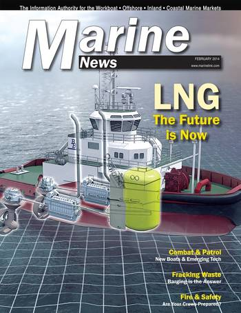 File MarineNews, the leading voice in the North American Workboat market, will feature 100 leading companies in its August 2014 edition. To be considered, apply at:  http://mn100.maritimemagazine.com/