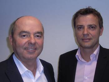 File Dandec, Director (on left) and Frédérick Clément, new export sales representative (on right).