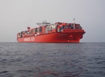 File Cap San Nicolas in the South China Sea (Photo courtesy of Hamburg Süd)
