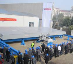 File Close to 150 customers from Chinese and Japanese shipyards attended Cargotec's first full-scale MacRack demonstrations, which were held in Nantong