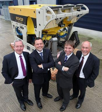 File From left to right: Ceona's chief executive officer Steve Preston and chief operating officer Stuart Cameron, with ROVOP's managing director Steven Gray and chairman Mark Vorenkamp