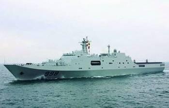 File Changbaishan 071 LPD: Photo courtesy of China Navy