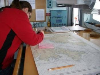 File Chartwork old-style: Photo courtesy of NOAA