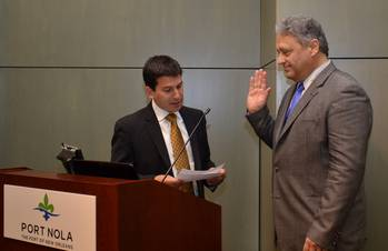 File Laney J. Chouest is sworn in to the Port of New Orleans Board of Commissioners (Photo courtesy of the Port of New Orleans)