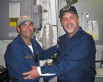 File Capt. Phillips & Cmdr. Frank Castellano: Photo credit USN