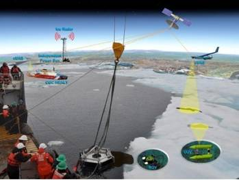 File Arctic ocean oil spill operations: Rendering courtesy of USCG