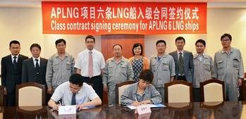 File class contract signing ceremony for APLNG 6LNG ships